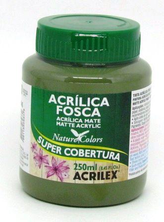 Tinta Acrilica Fosca 250ml Verde Oliva Acrilex