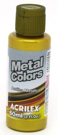 Tinta Metal Colors 60ml Dourado Solar Acrilex