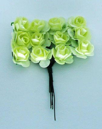 Rosas de Papel 2,30cm Creme (12 unidades)