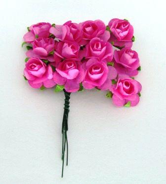 Rosas de Papel 2,30cm Pink (12 unidades)