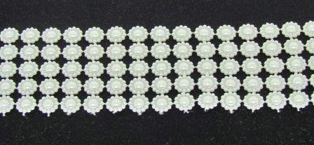 Manta Meia Pérola Flor 10mm (1 metro)