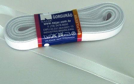 Fita de Gorgurão 10mm Branca (10 metros)