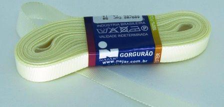 Fita de Gorgurão 10mm Creme (10 metros)