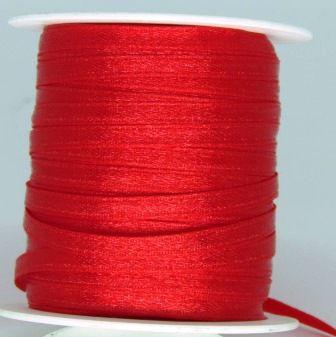 Fita Cetim 4mm Vermelho (1 metro)