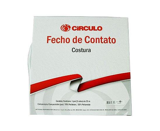 Fecho de Contato Branco 16mm (50cm)