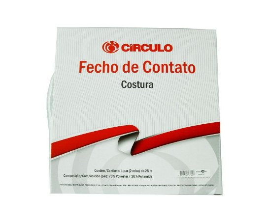 Fecho de Contato Branco 20mm (50cm)