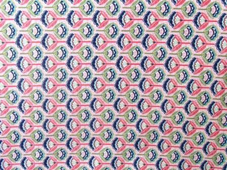 Tecido para Patchwork Floral Pequeno fd. Rosa (0,50m x 1,50m)