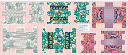 Tecido para Patchwork Kit Necessaire Box by Bia Feltz (0,61m x 1,50m)