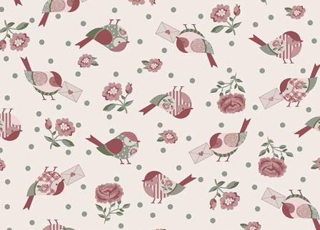 Tecido para Patchwork Pássaros Mon Amour (0,50m x 1,50m)