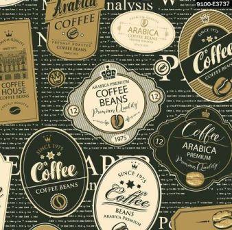 Tecido para Patchwork Digital Café Especial (0,50m x 1,50m)