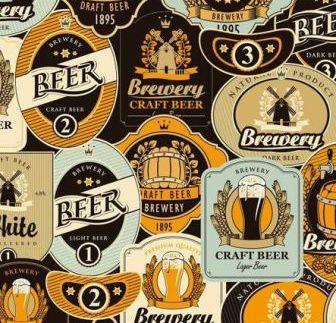 Tecido para Patchwork Digital Cervejas Mundiais (0,50m x 1,50m)