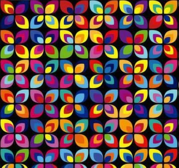Tecido para Patchwork Digital Floral Abstrato Colorido (0,50m x 1,50m)