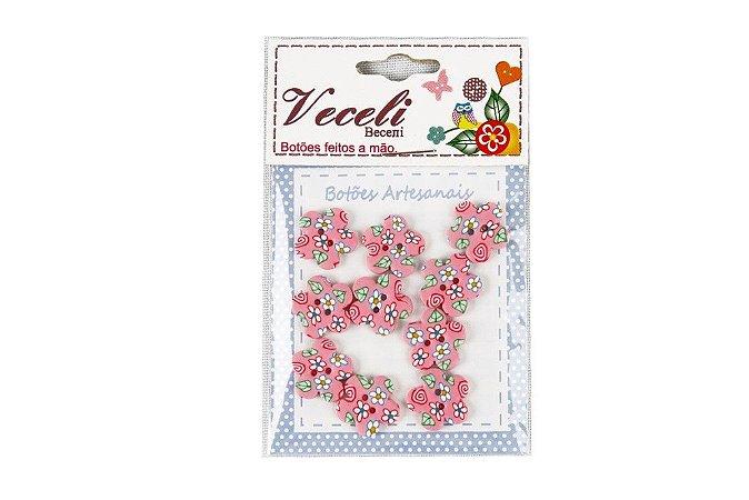 Botões Decorados Flor 13,5mm B26