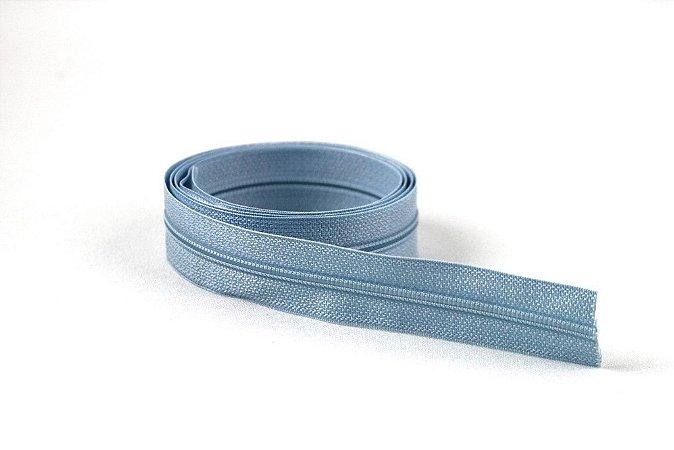 Zíper Fino Azul Claro 2,5cm Coats