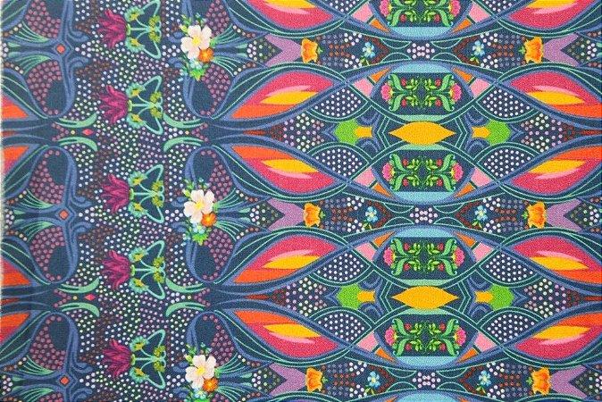 Tecido para Patchwork Estampa Digital Art Noveau (0,50m x 1,40m)