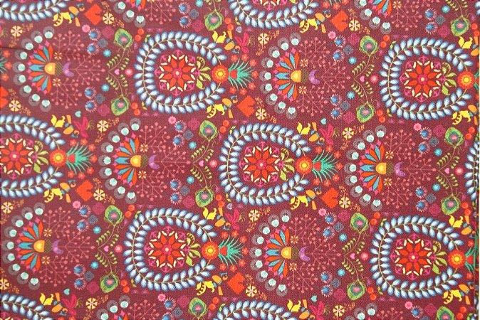 Tecido para Patchwork Estampa Digital Dere (0,50m x 1,40m)