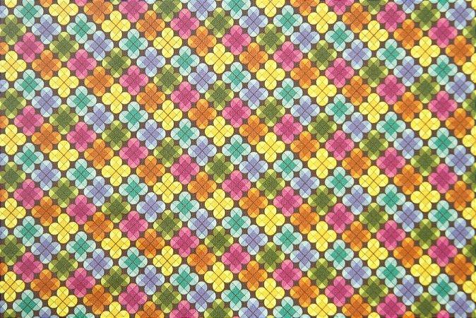 Tecido para Patchwork Estampa Digital Lok (0,50m x 1,40m)