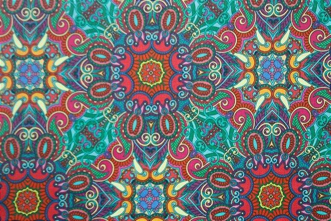 Tecido para Patchwork Estampa Digital Lonli (0,50m x 1,40m)