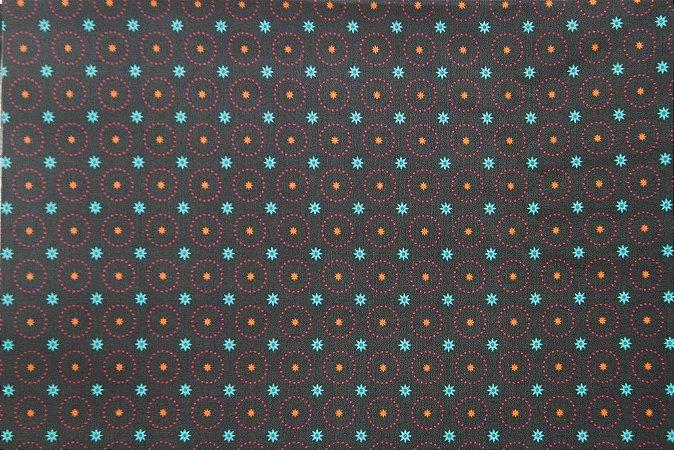 Tecido para Patchwork Estampa Digital Quebec (0,50m x 1,40m)