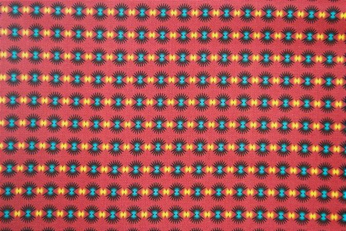 Tecido para Patchwork Estampa Digital Flock (0,50m x 1,50m)