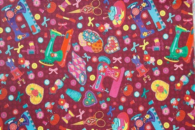 Tecido para Patchwork Estampa Digital Sew Blend (0,50m x 1,50m)