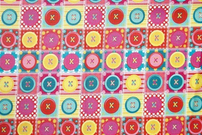 Tecido para Patchwork Estampa Digital Sew Chay (0,50m x 1,50m)