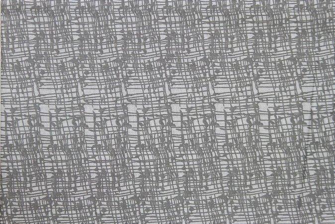 Tecido para Patchwork Textura Cinza (0,50m x 1,50m)