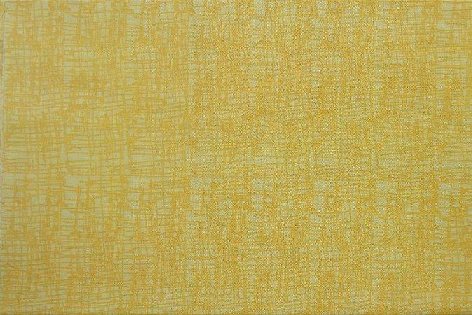 Tecido para Patchwork Textura Amarelo (0,50m x 1,50m)