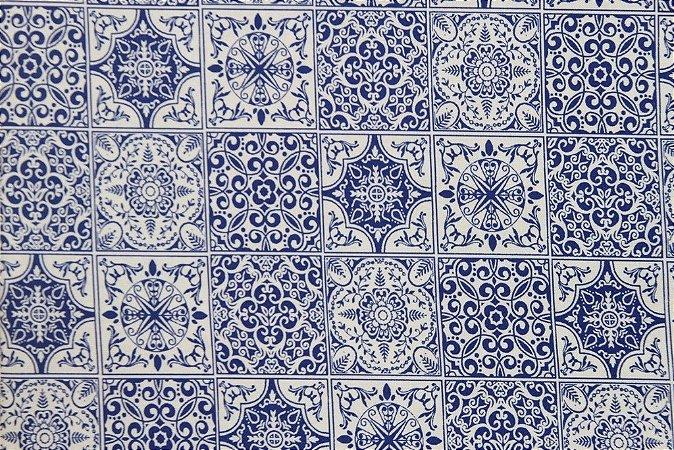 Tecido para Patchwork Azulejo (0,50m x 1,50m)
