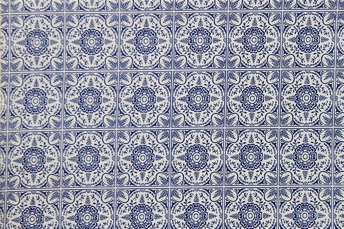 Tecido para Patchwork Azulejo 2 (0,50m x 1,50m)