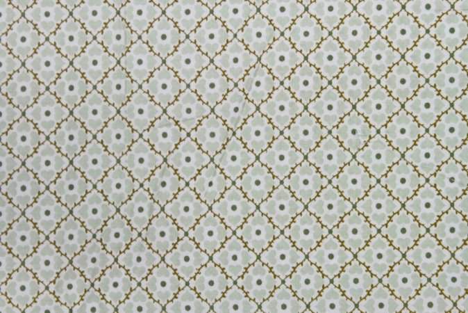 Tecido para Patchwork Coração Verde Claro (0,50m x 1,50m)