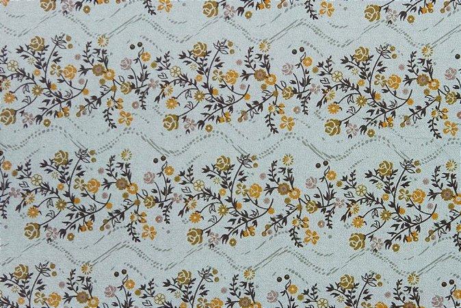 Tecido para Patchwork Floral Verde (0,50m x 1,50m)