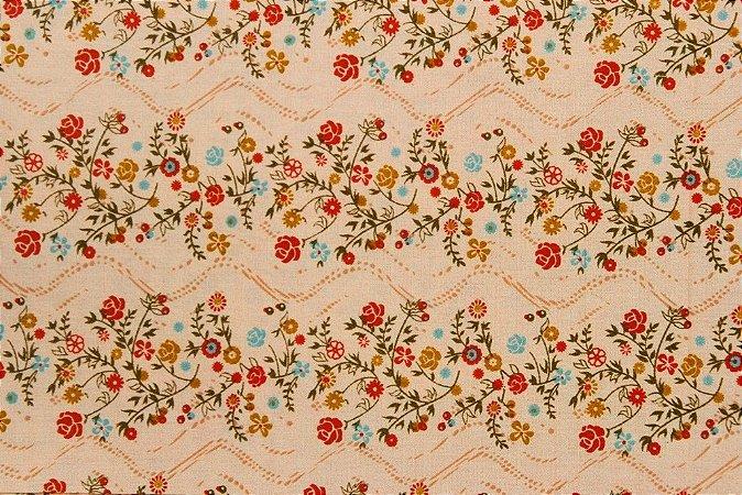 Tecido para Patchwork Floral Rosa (0,50m x 1,50m)