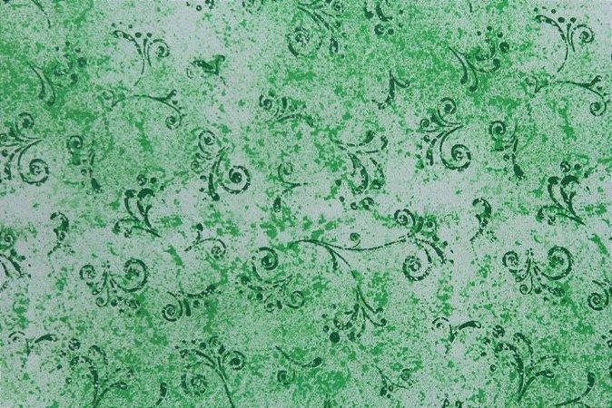 Tecido para Patchwork Arabesco Verde Médio (0,50m x 1,50m)