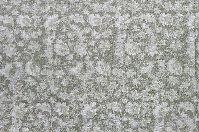 Tecido para Patchwork Floral Rimatex Bege (0,50m x 1,50m)