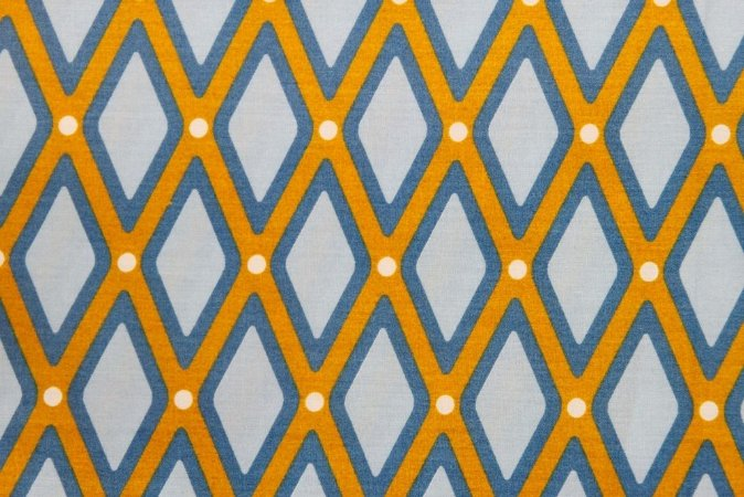 Tecido para Patchwork Treliça Amarelo (0,50m x 1,50m)