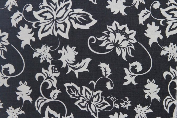 Tecido para Patchwork Vintage Preto (0,50m x 1,50m)