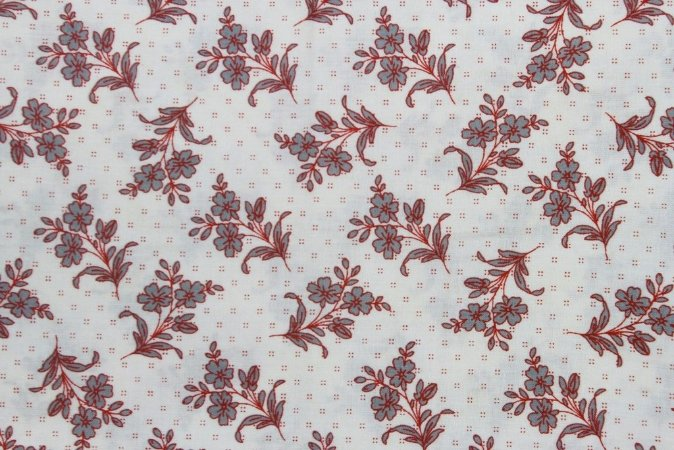 Tecido para Patchwork Paris Ramos de Flores (0,50m x 1,50m)