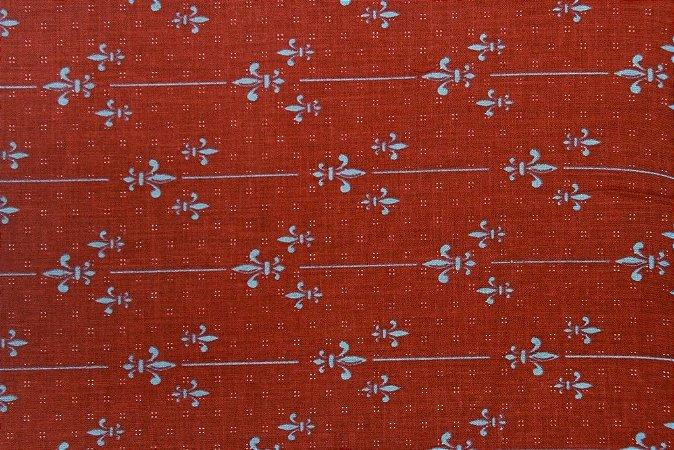 Tecido para Patchwork Paris Flor de Liz (0,50m x 1,50m)