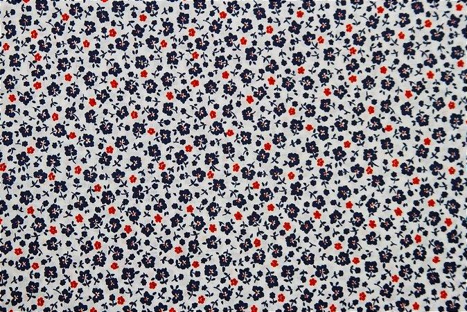 Tecido para Patchwork Liberty Azul Marinho (0,50m x 1,50m)