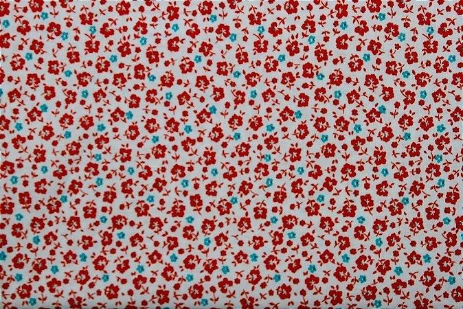 Tecido para Patchwork Liberty Vermelho (0,50m x 1,50m)