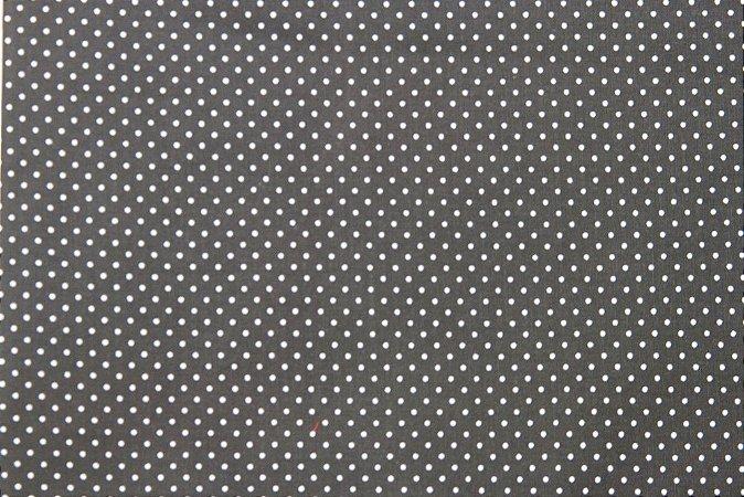 Tecido para Patchwork Poá Branco fd. Preto (0,50m x 1,50m)