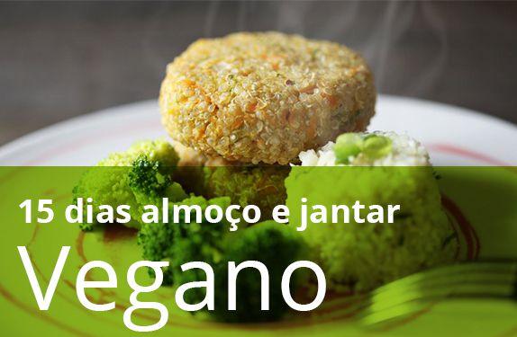 Kit 15 dias vegano - almoço e jantar