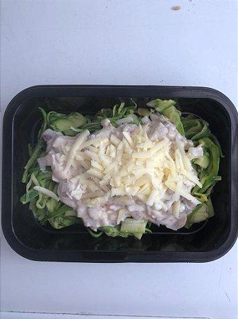 Espaguete de Abobrinha - Carbonara vegetariano