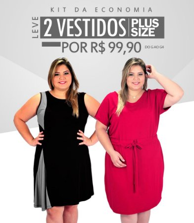 Kit Promoção Leve 2 Vestidos Plus Size