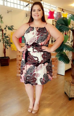 Vestido Alcinha de Viscose