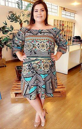 Vestido Estampado Maxxi Plus Size