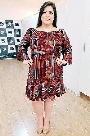 Vestido Maxxi Emotion Plus Size (com Forro)