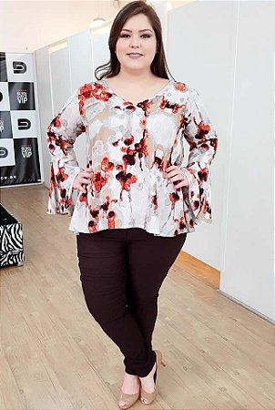 Blusa Karen Campbell Plus Size