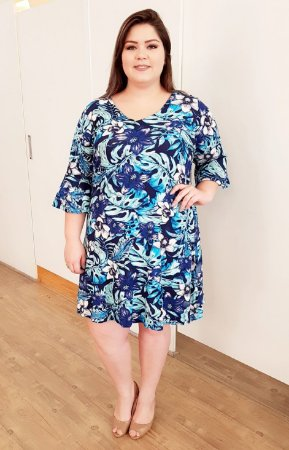 Vestido Summer Blue Plus Size